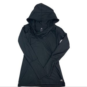 Adidas Womens Pullover Hoodie Top Cowl neck